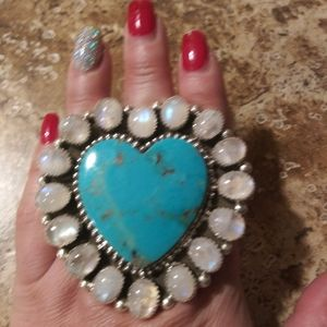 M&S Turquoise & Moonstone Ring